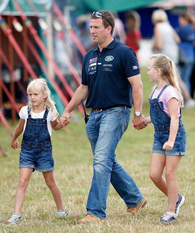 Phillips with his children Savannah, 10, and Isla, nine.