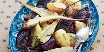 Crispy roasted vegetables