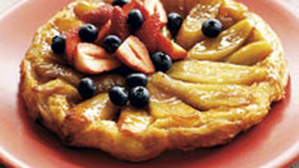 Cheat's banana tarte tartin