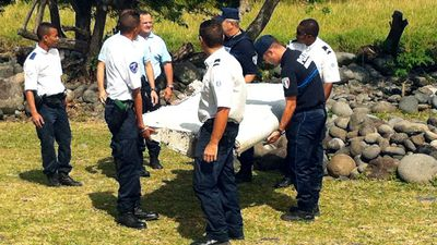<p>The two-metre long piece of wreckage, which appeared to be part of a wing, was found by people cleaning up a beach.</p>