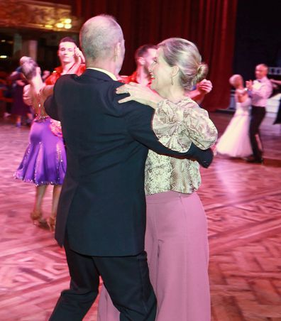 Sophie Countess of Wessex goes ballroom dancing at Blackpool Tower