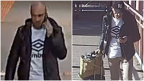 Police are searching for a man who exposed himself on a Sunbury-bound train.