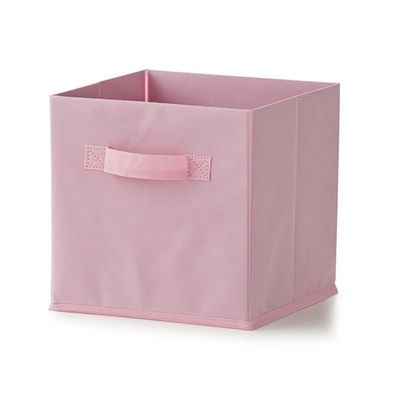 "Non-woven Collapsible Storage Cube in pink, $6 <a href=""http://www.kmart.com.au/product/non-woven-collapsible-storage-cube---pink,-set-of-3/807503"" target=""_blank"">Kmart</a>"
