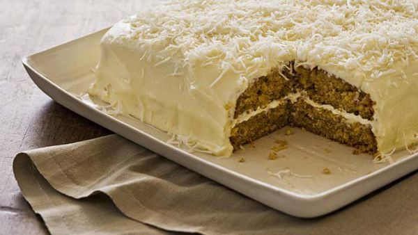 Banana & coconut cake