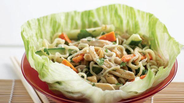 Chicken san choy bow salad