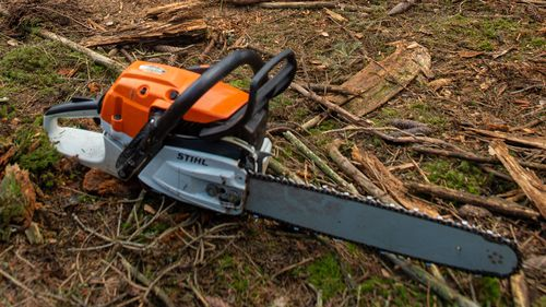 A man has been attacked with an electric chainsaw and another bitten several times following an argument stemming from a loud party in Queensland.