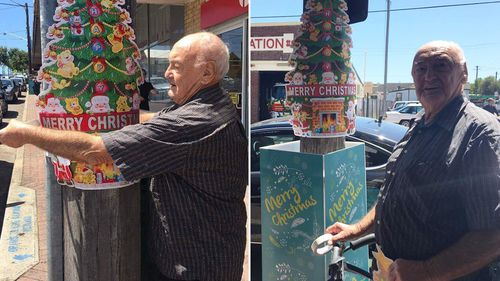 Sydney pensioner takes it upon himself to fix Council's 'woeful' Christmas decorating attempt