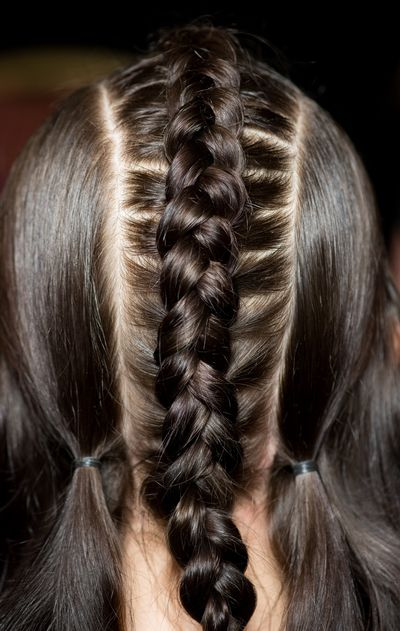 Braids of all types will be everywhere this winter. Try them sporty-style, add a miniature ponytail or just a mini braid at the crown.