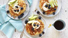 Gluten-free apple and almond pancakes
