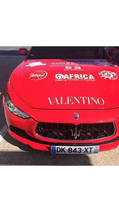 <em></em><p>Team Valentino's wheels of choice: aRolls-Royce Phantom Drophead Coupe.</p>