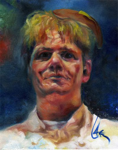 "By portrait artist <a href=""http://www.faithmouse.com/dan-lacey-gallery/index.html"" target=""new"">Dan Lacey</a>"