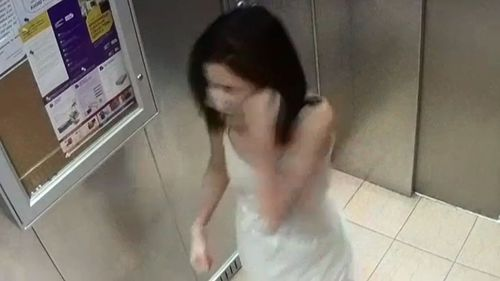 Asmae was recorded on camera hitting herself in the elevator.