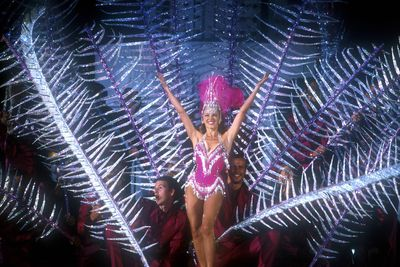 Kylie Minogue performing at the Sydney Olympics closing ceremony in September, 2000