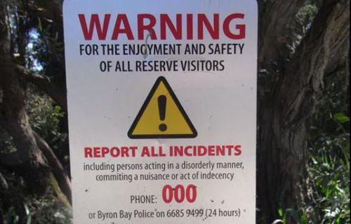 Mr McConville didn't see the warning sign at Tea Tree Lake. Image: Facebook/Honouring Tyagarah's Tea Tree Lake