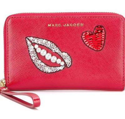 "Marc Jacobs embellished zip purse, $262 at <a href=""https://www.farfetch.com/au/shopping/women/marc-jacobs-embellished-zip-purse-item-11829274.aspx?storeid=9446&amp;from=search&amp;ffref=lp_pic_62_3_"" target=""_blank"">Farfetch<br /> </a>"