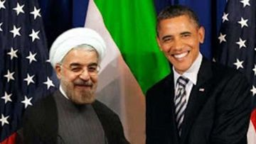 Congressman Paul Gosar tweeted this photoshopped image of Barack Obama meeting Hassan Rouhani, a meeting that never took place.