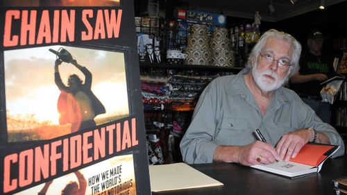 Gunnar Hansen signs copies of  Chain Saw Confidential: How We Made The World's Notorious Horror Movie. (Getty Images)
