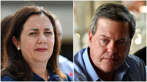 Premier Annastacia Palaszczuk and LNP leader Tim Nicholls have given little more than lip service on issues like electricity prices. (Images: AAP)