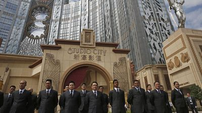 Security guards stand watch outside the casino. (AAP)