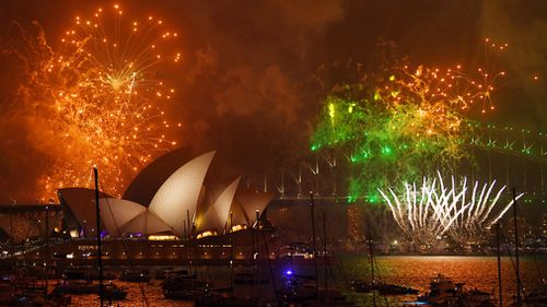 Family fireworks over Sydney Harbour. (AAP)