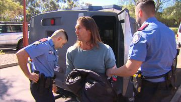 Ben Cousins is behind bars after being arrested in Perth.