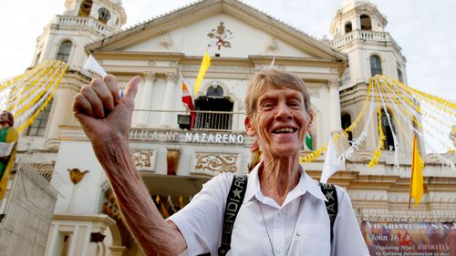 Sister Patricia Fox insists she is doing the work of God in the Philippines and that her visa cancellation is an attack on the church. Image: AAP