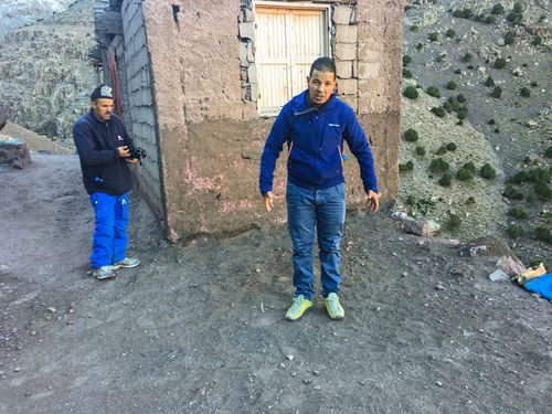Tour guide Rachid shows the location where one of the women was allegedly found.