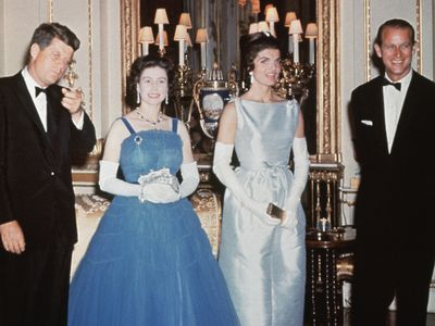 The Queen with JFK and Jackie Kennedy, 1961