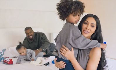 Kim Kardashian, Kanye West,  Saint West and Chicago West in Vogue