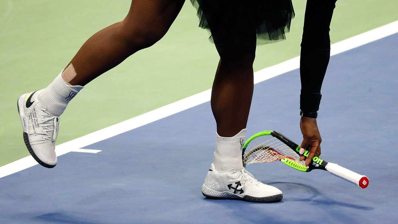 Serena Williams' smashed racquet from US Open final sells at auction