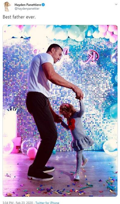 Wladimir Klitschko, daughter Kaya, dancing, Twitter, photo