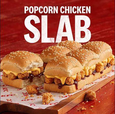 KFC introduces the 'Popcorn Chicken Slab'