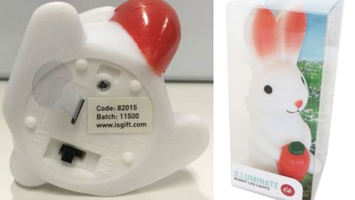 The novelty night light that caused Edward Rumble's accident has since been recalled.
