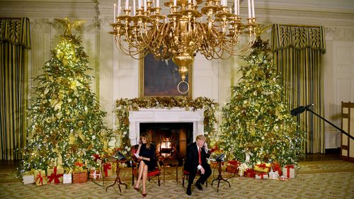 US President Donald Trump and his wife Melania Trump take part in Santa Tracker phone calls, which the First Lady said was 'becoming one of my favourite traditions'.