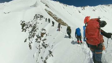 The GoPro footage shows the climbing party at Nanda Devi.