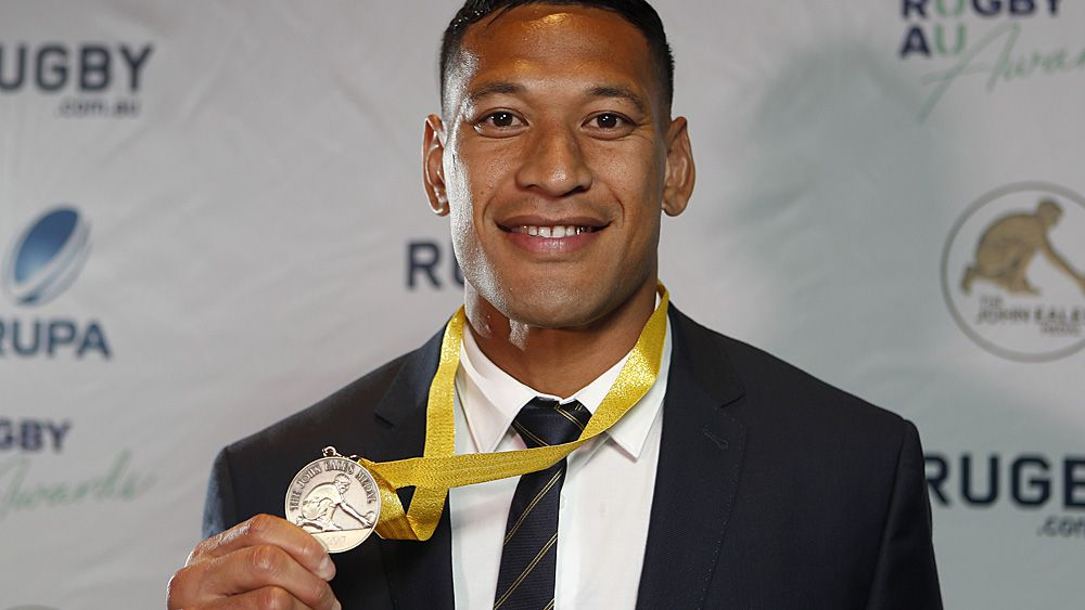 Folau's record 3rd John Eales rugby medal