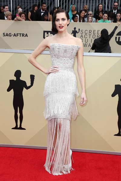 Actress Allison Williams in Ralph & Russo at the 2018 SAG Awards