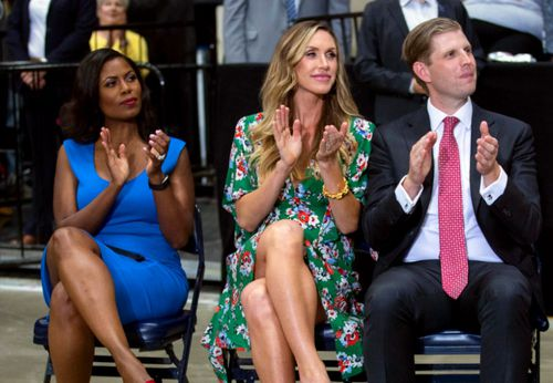 From left: Omarosa Manigault Newman, Lara Trump and Eric Trump.