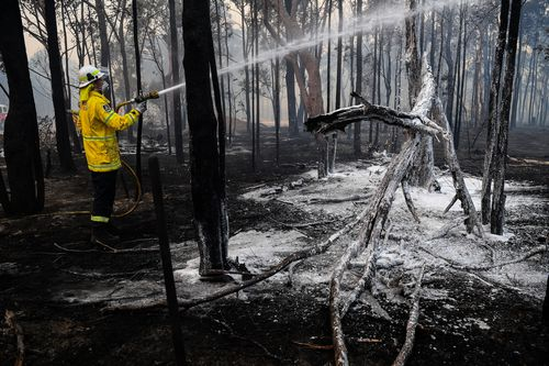 The NSW RFS is urging residents in affected areas to prepare their properties and discuss possible plans of action if a fire does threaten their home.