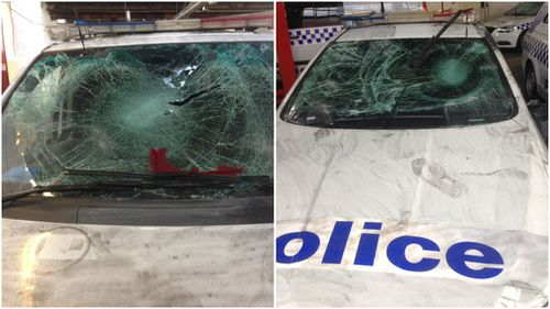 Four cars sustained serious damage. (9NEWS)