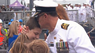 HMAS Melbourne: 'Privilege to command 220 Australians'