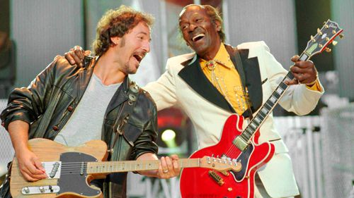 Chuck Berry and Bruce Springsteen. (AFP)