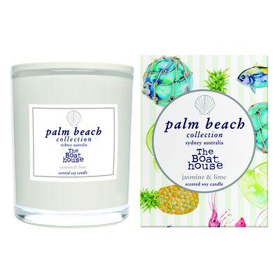 """<a href=""""http://palmbeachcollection.com.au/collections/standard-candle"""" target=""""_blank"""">The Palm Beach Collection X The Boathouse, $42.95.</a>"""