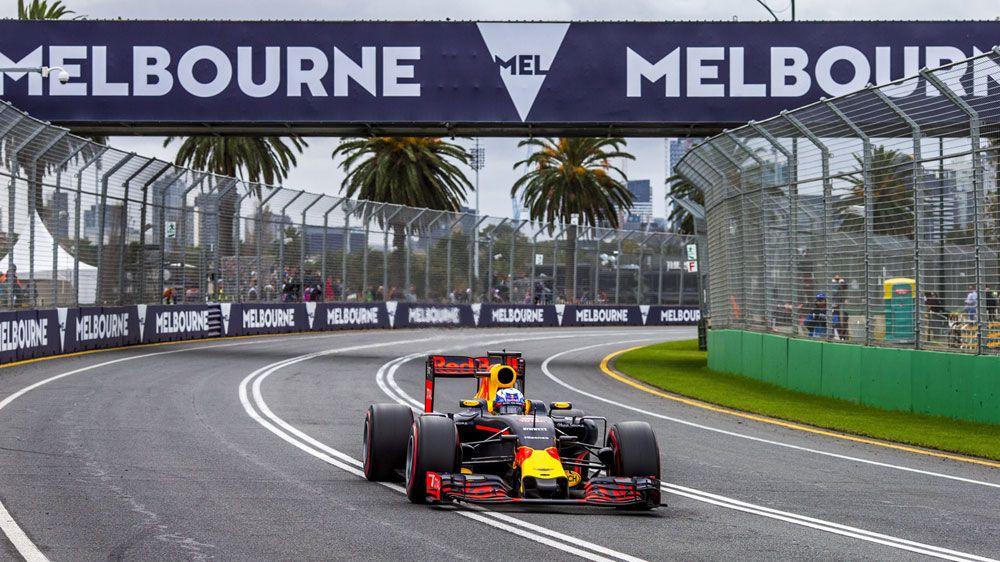 Daniel Ricciardo during qualifying at the Australian F1 GP. (AAP)