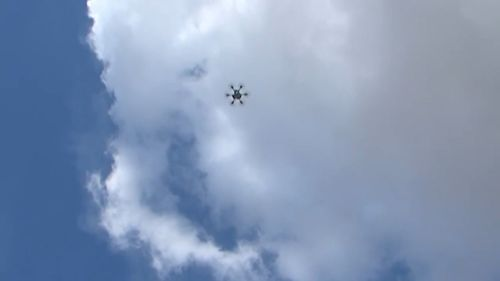 The drone buzzed through the air for several seconds before things turned south. (Ruptly)