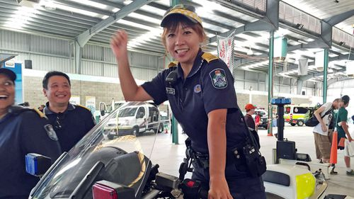 PLO Berry at the 2015 Road Safety Expo in Cairns. (Queensland Police Service)