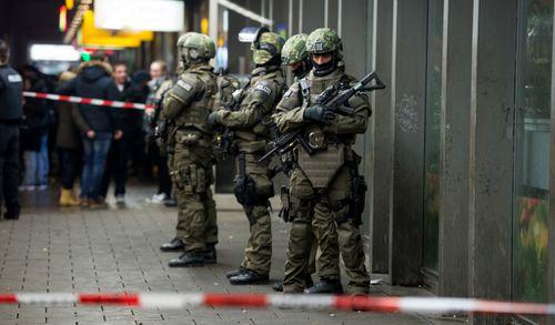 Police outside Munich train station. (AFP)