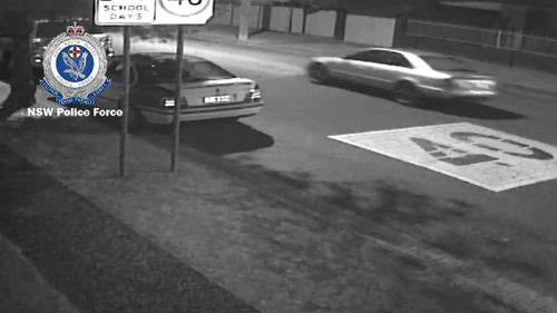 Further CCTV footage shows the man speeding away in a silver vehicle after the incident. Picture: Supplied.