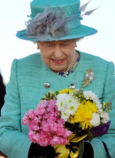 The Queen's Australian Wattle brooch