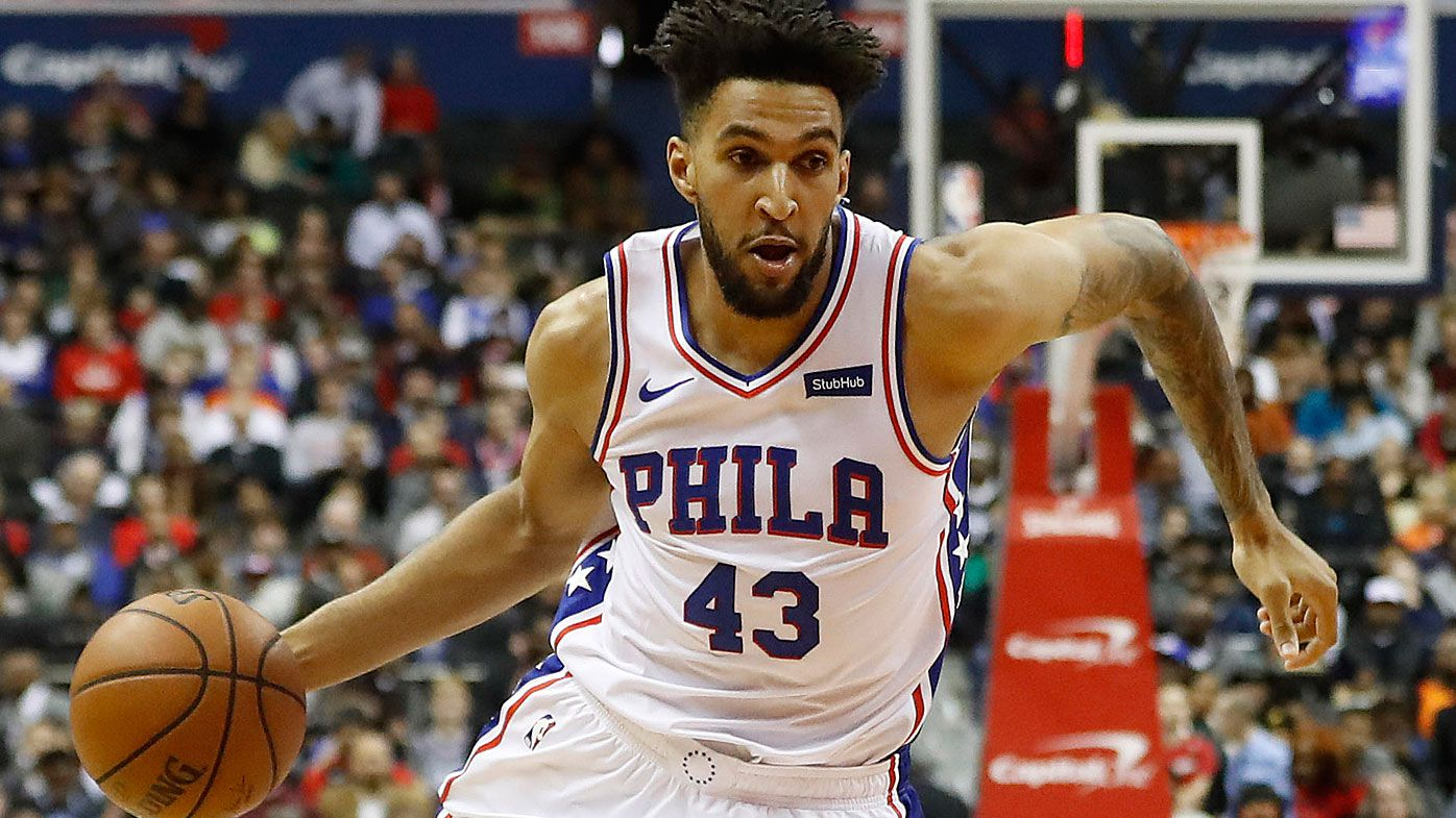 Jonah Bolden in action for the 76ers